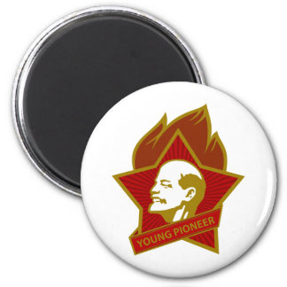 Russia CCCP USSR Young Pioneer 2 Inch Round Magnet