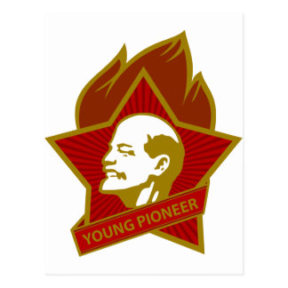 Russia CCCP USSR Young Pioneer Postcard
