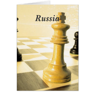 Russia Chess Stationery Note Card