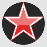 russia classic round sticker
