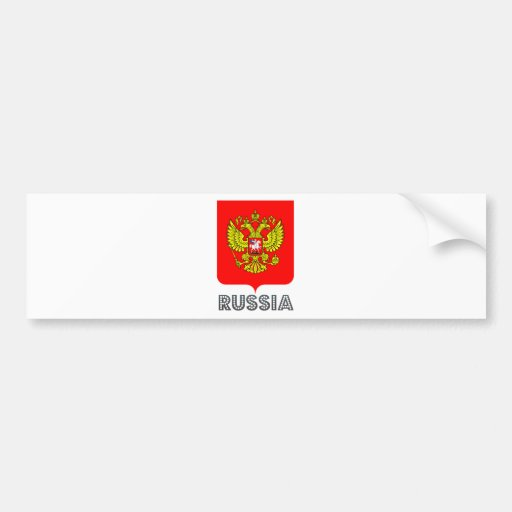 Russia Coat of Arms Car Bumper Sticker