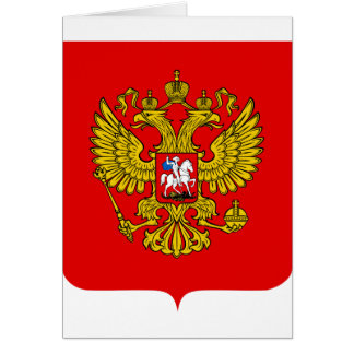 Russia Coat of Arms Card