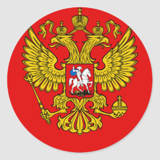 Russia Coat of Arms Classic Round Sticker