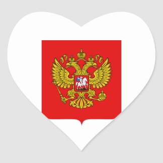 Russia Coat of Arms Heart Sticker