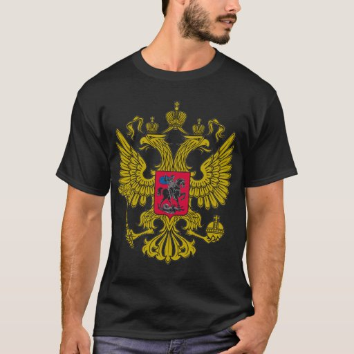 Russia coat of arms of men T-shirt