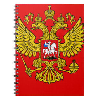 Russia Coat of Arms Spiral Notebook