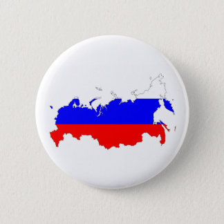 russia country flag map shape symbol pinback button