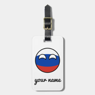 Russia Countryball Luggage Tag