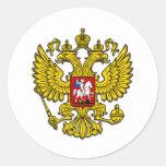 Russia Crest Classic Round Sticker