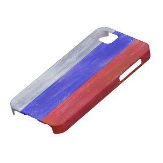 Russia distressed Russian flag iPhone SE/5/5s Case