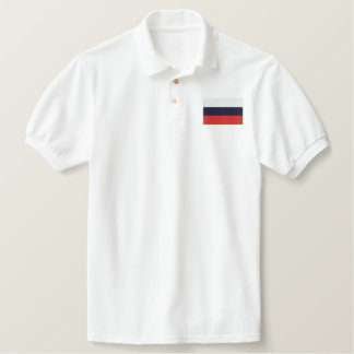 RUSSIA EMBROIDERED POLO SHIRT