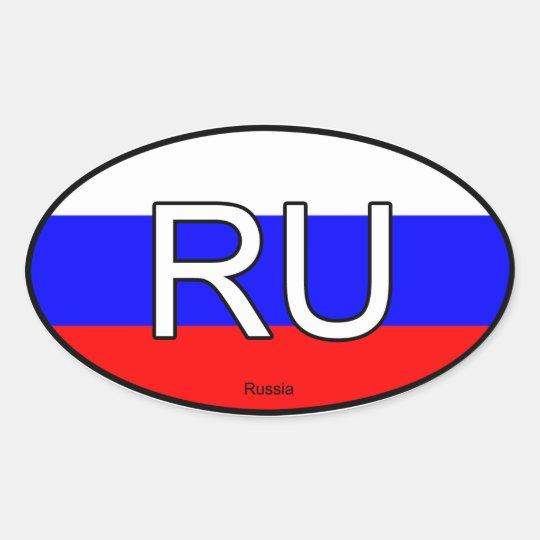 Russia Euro Sticker