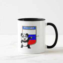 Combo Mug with Russian Fencing Panda design