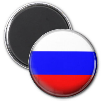 Russia Flag 2 Inch Round Magnet