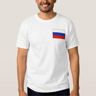 Russia Flag and Map T-Shirt