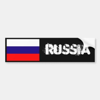Russia flag bumper 2 bumper sticker