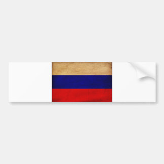 Russia Flag Bumper Sticker