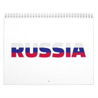 Russia flag calendar