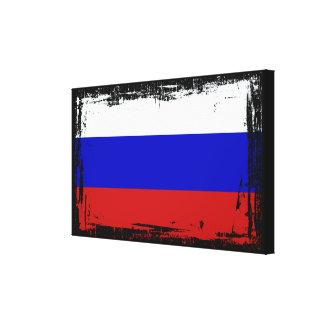 Russia Flag Canvas Print