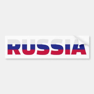 Russia flag car bumper sticker