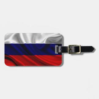 Russia Flag Fabric Bag Tag