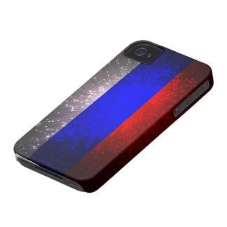 Russia Flag Firework iPhone 4 Case