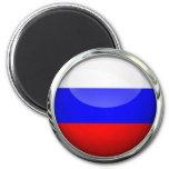 Russia Flag Glass Ball Fridge Magnet