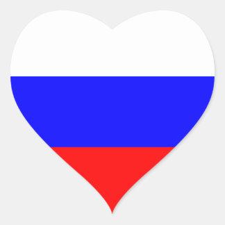 Russia Flag Heart Sticker