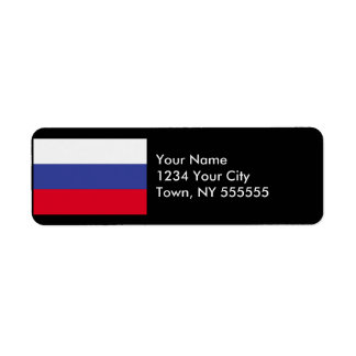 Russia Flag Label