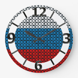 RUSSIA FLAG LARGE CLOCK