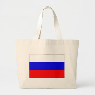 Russia Flag Large Tote Bag