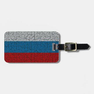 RUSSIA FLAG LUGGAGE TAG