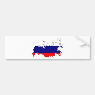 Russia Flag Map Bumper Sticker