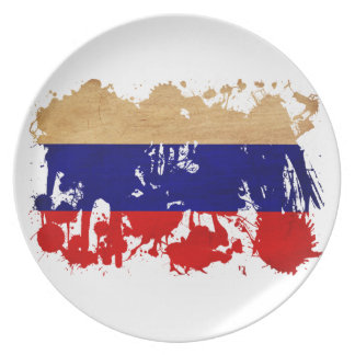 Russia Flag Party Plates