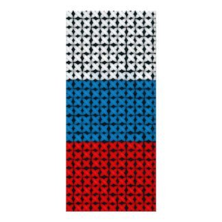 RUSSIA FLAG RACK CARD