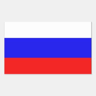 Russia Flag Rectangular Sticker