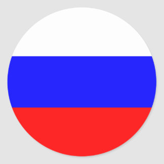 Russia Flag Round Stickers (pack)