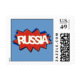 Russia flag starburst stamps