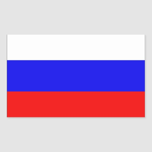 Russia Flag Rectangle Stickers