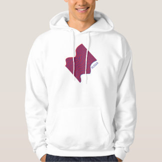 Russia Flag Wave Hooded Pullovers