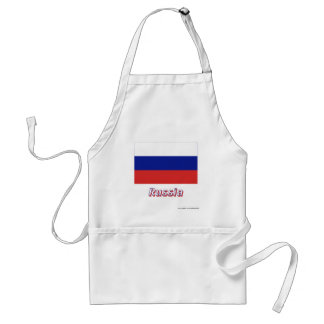 Russia Flag with Name Apron