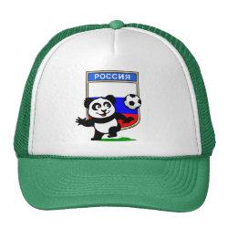 Trucker Hat with Russia Football Panda design