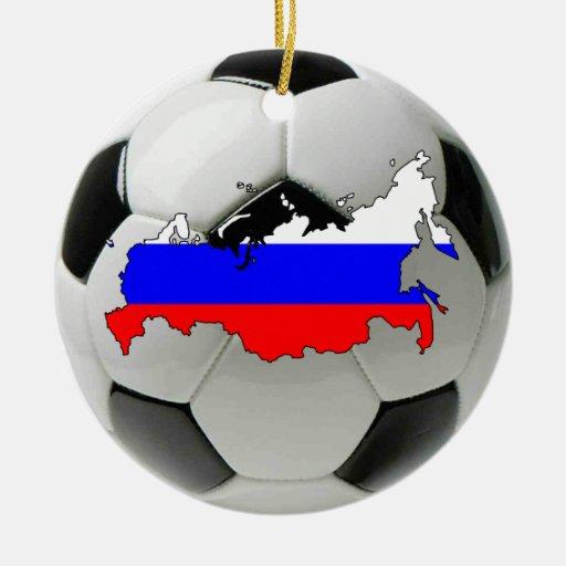 Russia football soccer ornament