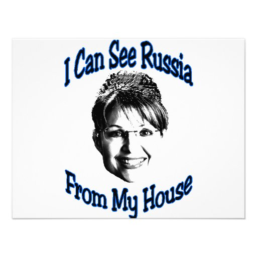 Russia From My House Personalized Announcement