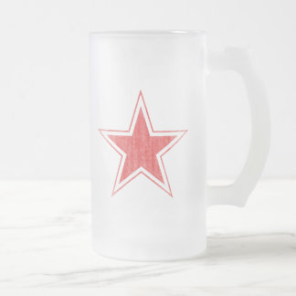 RUSSIA FROSTED GLASS BEER MUG