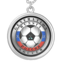 Russia Generation X Russian Soccer Silver Plated Necklace