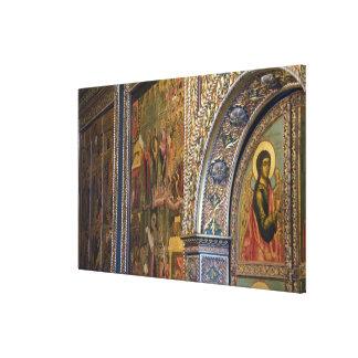 Russia, Golden Ring city of Yaroslavl. 17th Canvas Print