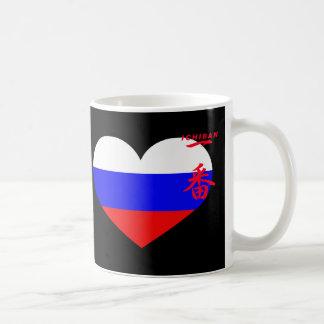 Russia heart coffee mug