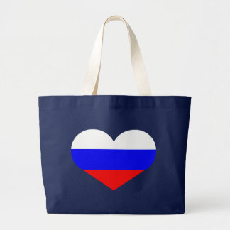 Russia heart large tote bag