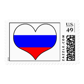 Russia Heart Stamp